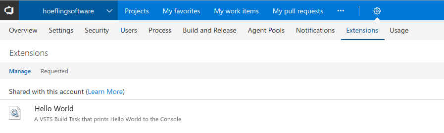 Creating a Custom Build Task in VSTS (Visual Studio Team Services)