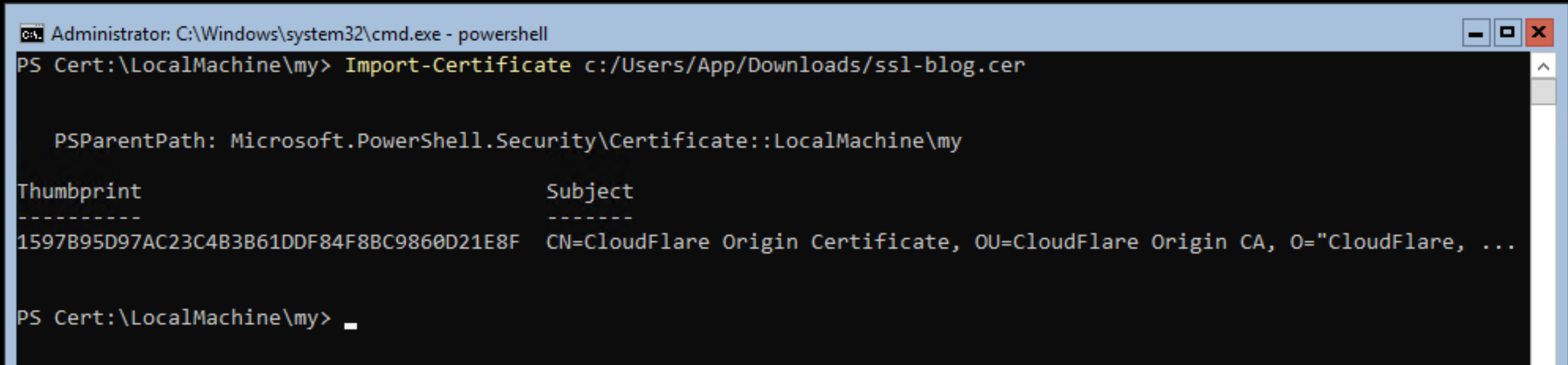 Configuring Cloudflare Ssl Certificates On Windows Server Core With